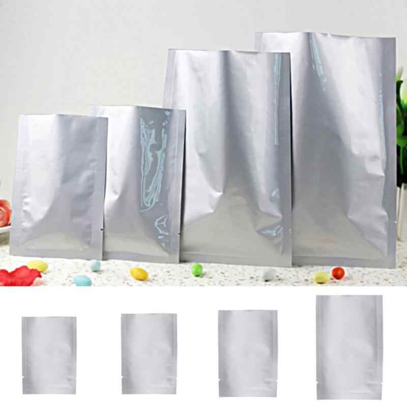 Multifunction 100pcs Vacuum Sealer Zipper Silver Aluminum Foil Mylar Bags Food Storage Pouches For Kitchen Tools