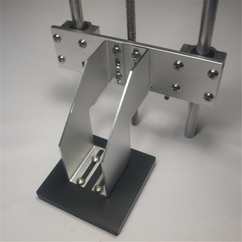 Funssor 1set Z axis build platform kit for DIY UV resion DLP/SLA 3D printer build plate support arm+TR8 delrin nut flashforge 3d printer heating plate metal platform upgrade kit for creator pro 10 mm rods z axis plate form
