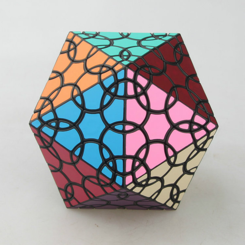 VerryPuzzle Clover Lsosahedron D1 Twisty Magic Cube Speed Puzzle Cubes Educational Toys for Kids cube style verypuzzle clover octahedron puzzle limited edition twisty puzzle educational toys magic cube