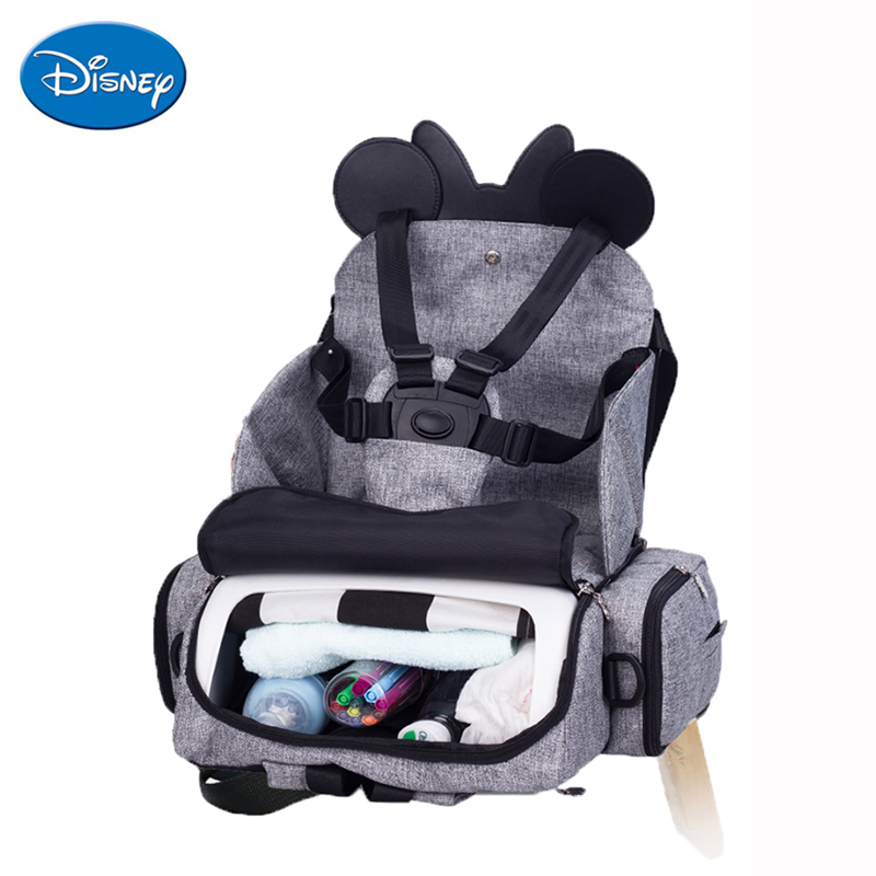 Disney Baby Dining Chair Seat Multifunctional Mommy Bag Feeding Highchair Portable Baby Eating Chair Safety Baby Chair CarrierDisney Baby Dining Chair Seat Multifunctional Mommy Bag Feeding Highchair Portable Baby Eating Chair Safety Baby Chair Carrier