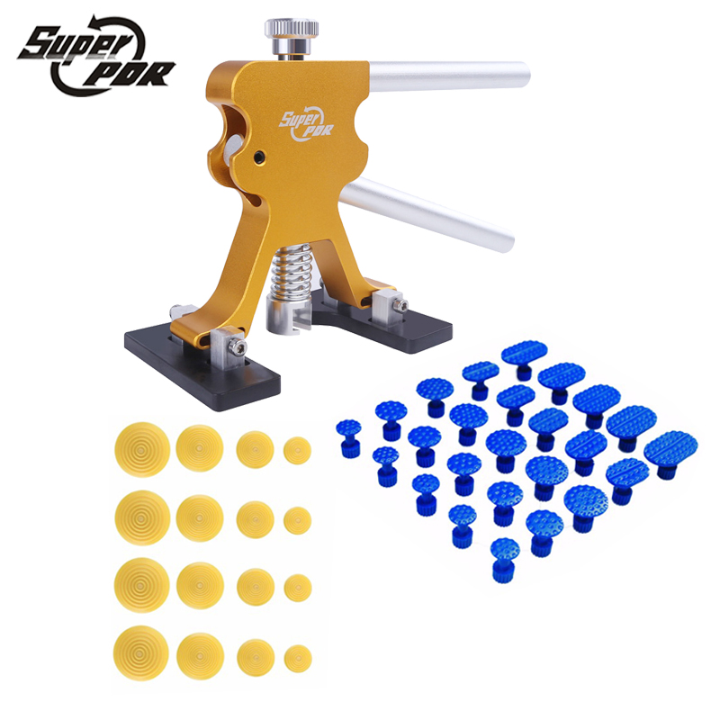 PDR Car Dent repair tool set glue puller glue tabs 46pcs hand tool Paintless Dent Removal Tools kit auto body repair цена