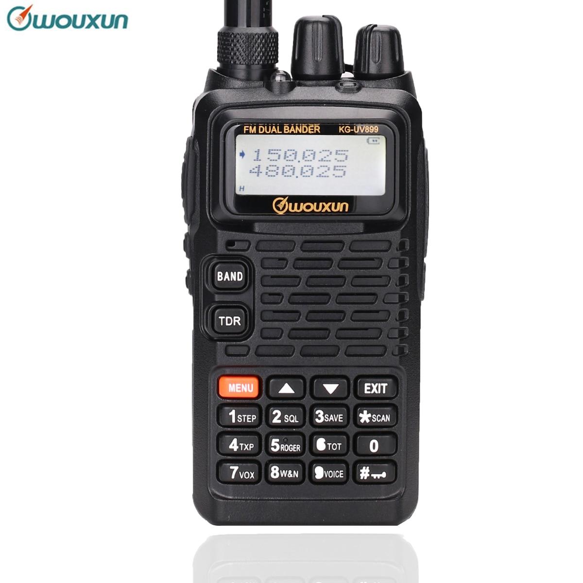 Original WOUXUN KG UV899 Dual Band Two Way Radio with 1700mAh battery FM Transceiver Walkie Talkie UHF VHF HAM Radio