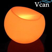 remote control RGB colors change waterproof red blue white apple seat light led stool for hotel outdoor indoor VC S5647
