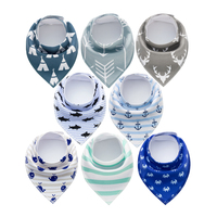 8PCS Baby Bandana Drool Bibs Super Absorbent 100 Organic Cotton For Drooling Teething And Feeding Baby