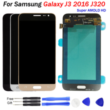 J320f Amoled lcd For SAMSUNG GALAXY J3 2016 LCD J320F J320FN J320M Display Digitizer Touch Screen for j3