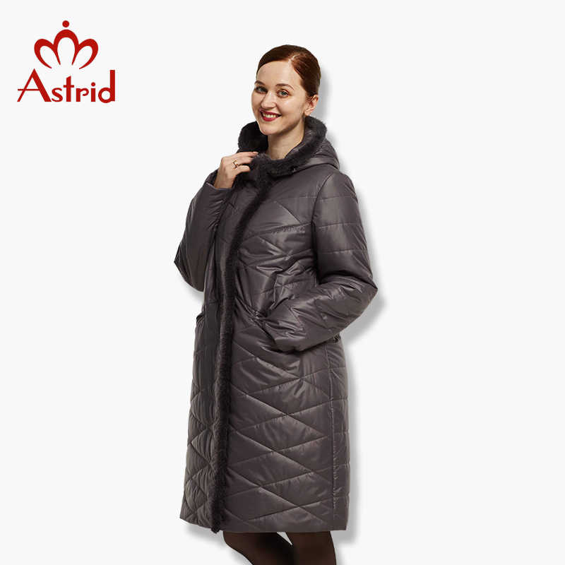 Astrid женская куртка зимнее пальто теплый пуховик женские большие парки новая зимняя хлопковая верхняя одежда AM-1849