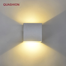цены Aluminum led Modern Brief Cube Up& Down Light Mounted 12W LED Wall Lamp indoor decoration Aluminum Wall Lights
