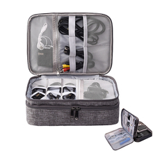 travel Bag Digital Organizers Wires USB Cables Storage Bag Electronic Charger Power Battery Box Zipper Handle Bags accessories