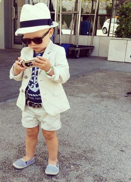 White Tuxedo Kids Boys Wedding Attire Children Wedding Suit For Boys ...