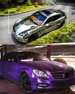 Image 5 - Lámina de vinilo cromado para espejo de coche lámina adhesiva de 100x30CM para revestimiento DIY, accesorios de estilismo para automóviles, motocicletas, camiones y automóviles