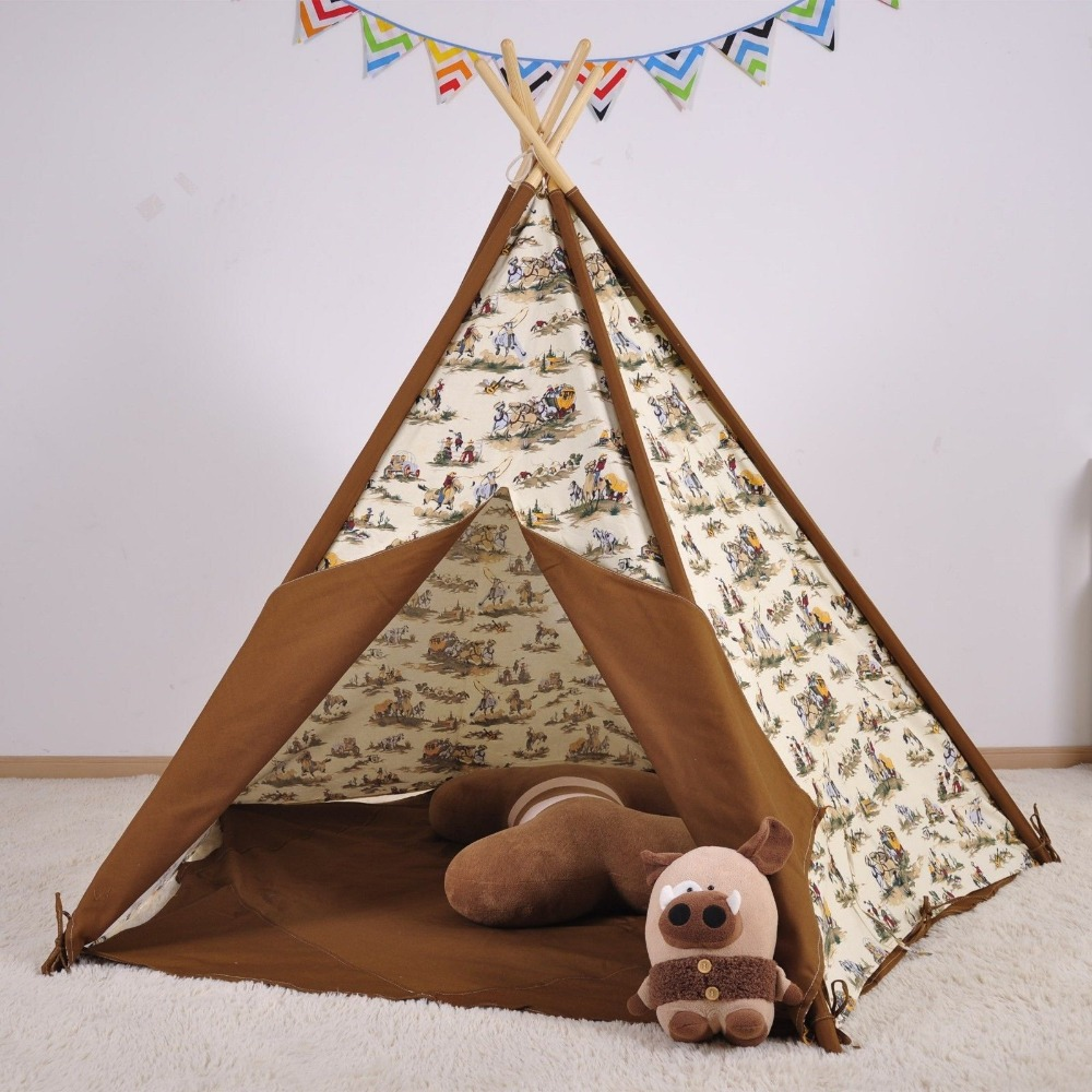Cowboy Kids Play Teepee Tent Children Playhouse Tent Toy Tent for Boys-in Tents from Sports u0026 Entertainment on Aliexpress.com   Alibaba Group & Cowboy Kids Play Teepee Tent Children Playhouse Tent Toy Tent for ...