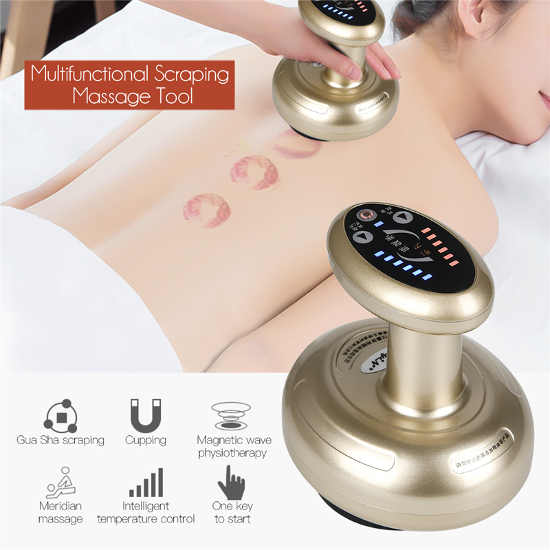 Professional Gua Sha Scraping Rechargeable Massage Tool Multifunctional Body Scraping Massage Device For Health Care in Home nanibon кардиган