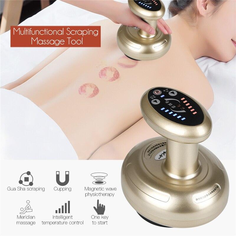 Profissional gua sha raspagem recarregável massagem ferramenta multifuncional corpo raspagem dispositivo de massagem para cuidados de saúde em casa