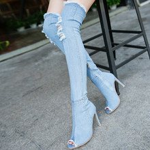 1f5888ea7bb Popular Knee High Boots with Holes for Women-Buy Cheap Knee High ...