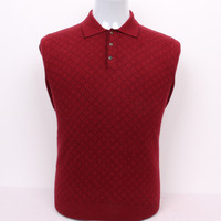 big size 100%goat cashmere men's boutique pullover sweater argyle polo collar S/105 3XL/130