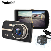 4 0 Car DVR Camera Dual Lens Rear View Registrar Novatek 96658 Night Vision Car Dvrs