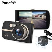 4 0 Car DVR Camera Dual Lens Rear View Registrar Novatek 96658 Night Vision Car Dvrs