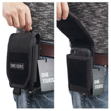 OneTigris MOLLE Tactical Hunting Waist Bag Smartphone Holder Pouch for iPhone6s SE iPhone6 Plus