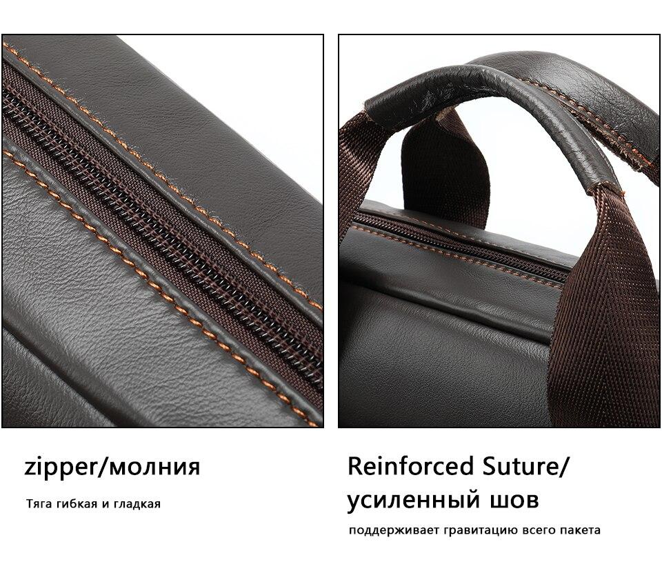 Men \' s Shoulder Bag Male Genuine Leather Crossbody Bags for Men Messenger Bag Casual Vintage Clutch Handbags bolsos 22
