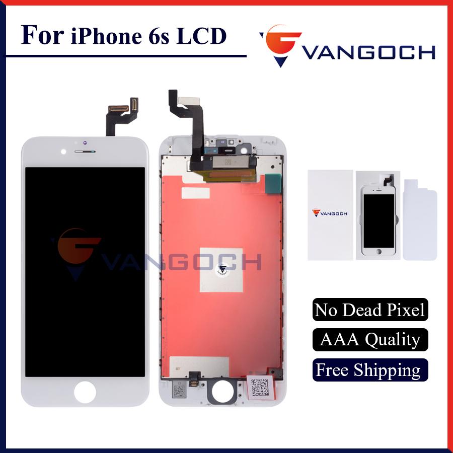 Prix pour AAA Qualité Pas de Dead Pixel Affichage pour iPhone 6 s LCD de Remplacement avec 4.7 pouce 3D Écran Tactile Livraison Gratuite