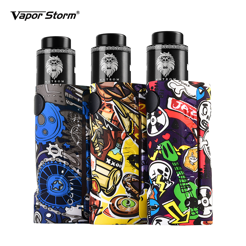 Vapor Storm Eco Rda Kit Max 90W ECO mod with 24mm Lion RDA Support RDTA Airflow Control Electronic Cigarette vaper by 18650Vapor Storm Eco Rda Kit Max 90W ECO mod with 24mm Lion RDA Support RDTA Airflow Control Electronic Cigarette vaper by 18650