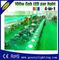 100 W COB luce par del LED DMX Theater Riflettore RGBW 4in1 LED di Illuminazione Della Fase Proiettore ad alta luminoso dmx stage cob led luce
