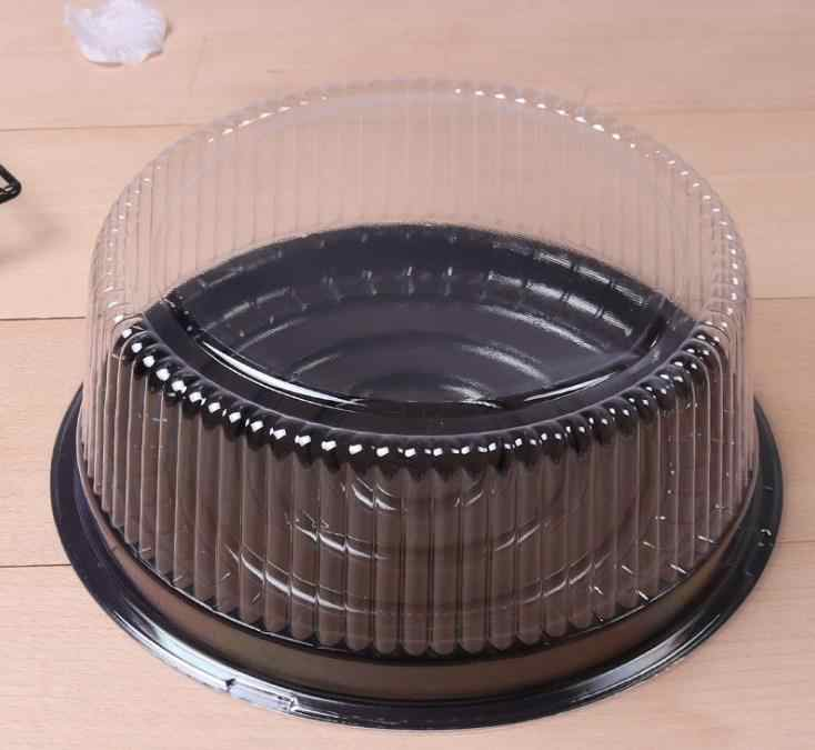 wholesale big round cake box/ 8 inches cheese box /clear plastic cake container / big cake holder Free Shipping