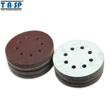 Free shipping 25 Pieces Velcro 5 125mm 8 Hole Sanding Discs Various Grits 60 80 120 180 220 Sandpaper