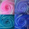 Laser brilhante gaze tecido stage decoração do casamento colorido material de gaze de nylon tecido voile rosa roxo azul royal
