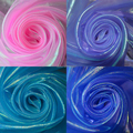 laser shiny gauze fabric stage wedding decor material colorful nylon gauze tissue voile pink purple royal blue