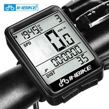 INBIKE непромокаемый Велосипедный компьютер Спидометр беспроводной проводной одометр велосипедный компьютер MTB измеряемая температура секундомер