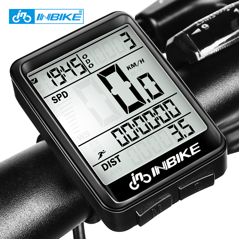 INBIKE Rainproof Bike Computer Speedometer Wireless Wired Odometer Cycling Bicycle Computer MTB Measurable Temperature Stopwatch