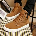 2016 fashion Hot Men Martin boots Male Fashion Autumn Winter Leather Fur Boots For Man Casual High Top Canvas Men Shoes