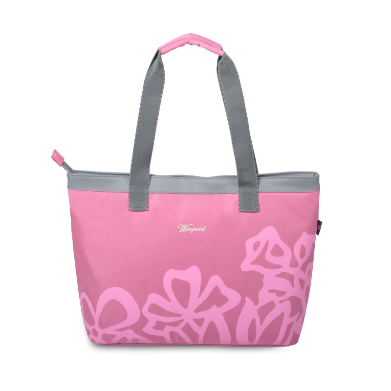 Women Classy Printing Nylon Tote Bag Practical Superllight Casual Shoulder Bag Fashion Simple Contrast Color Hand