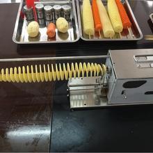 Автоматическая тянущаяся Торнадо машина для картофеля, Картофельная спиральная машина для резки, машина для производства картофеля/машинка для картофельных чипсов Электрический тип