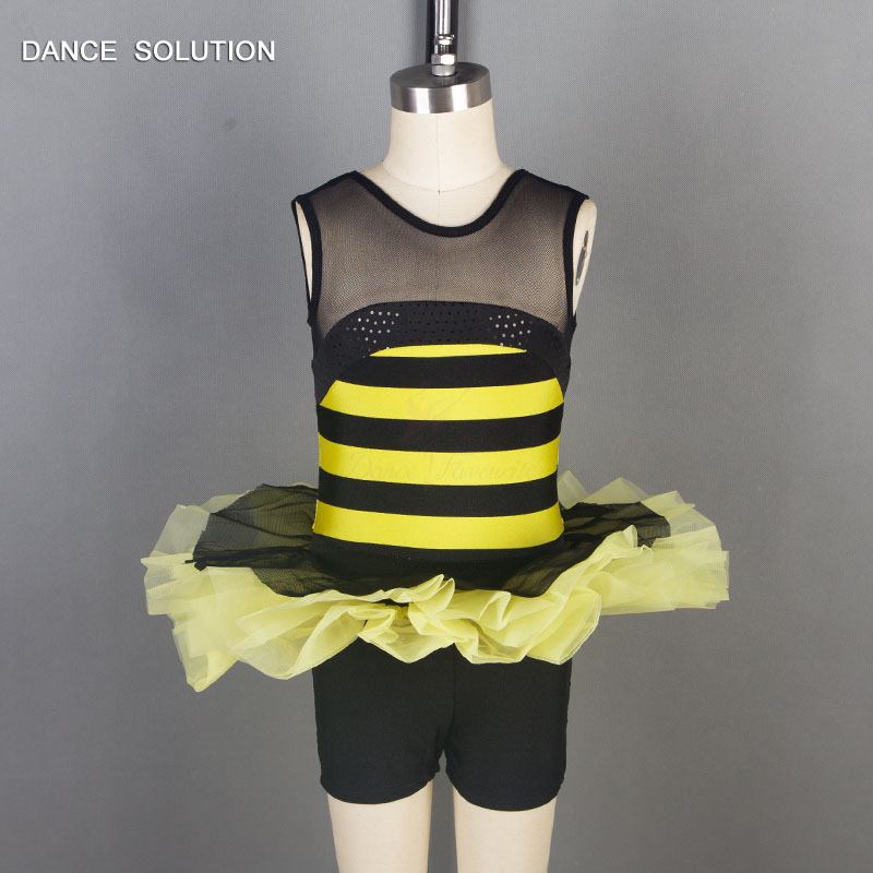 pretty cool fresh styles best sell Bee Costume Kids Dance Shoe Costume Bnlack and Yellow Unitard for ...