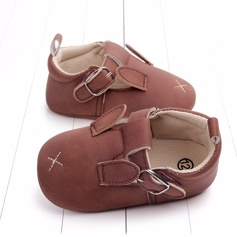 Baby First Walkers Matte leather Shoes for Baby Girl Boy Cartoon Animal Newborn Slippers Footwear Booties Kids Gift Child Shoes (35)