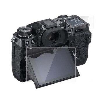 Debous HD Protector de pantalla para Fujifilm X-H1 cámara Digital 2 juegos cristal claro LCD Pantalla de vidrio templado y pantalla superior x-h1