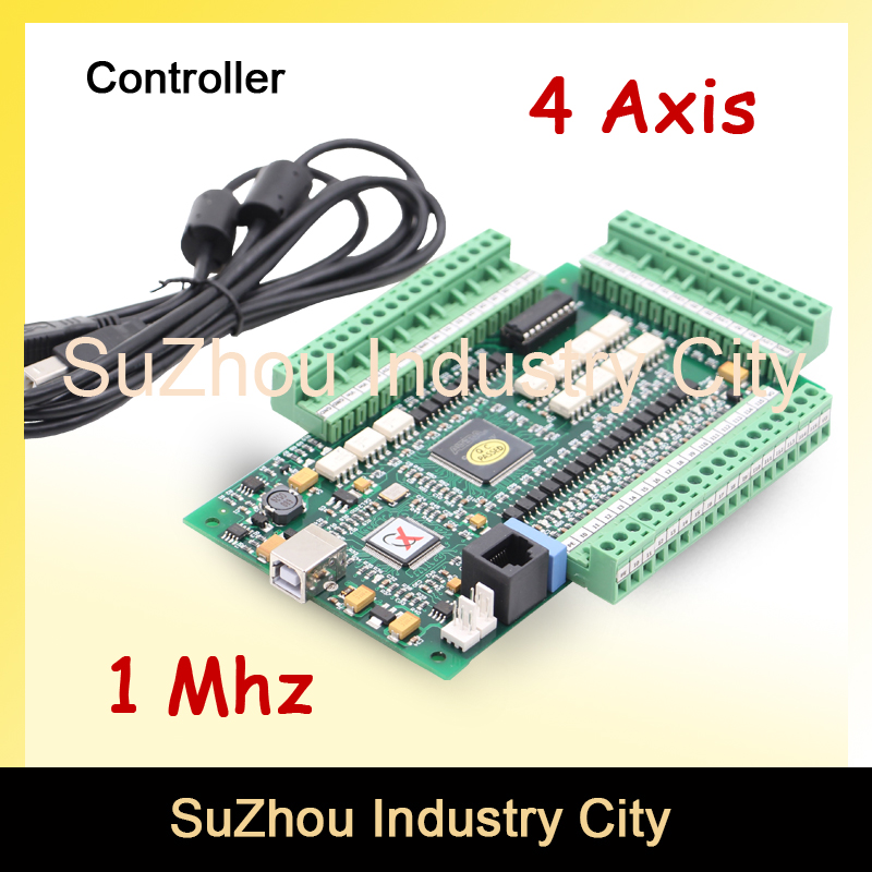 Sale! 4 Axis MACH3 USB CNC Motion Control Card frequency 1MHZ CNC Controller Driver Board used for stepper motor and servo motor