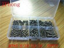 180pcs 3mm M3 Stainless Steel 304 ISO7380 Button Head Allen Bolts Hexagon Socket Screws Assortment Kit