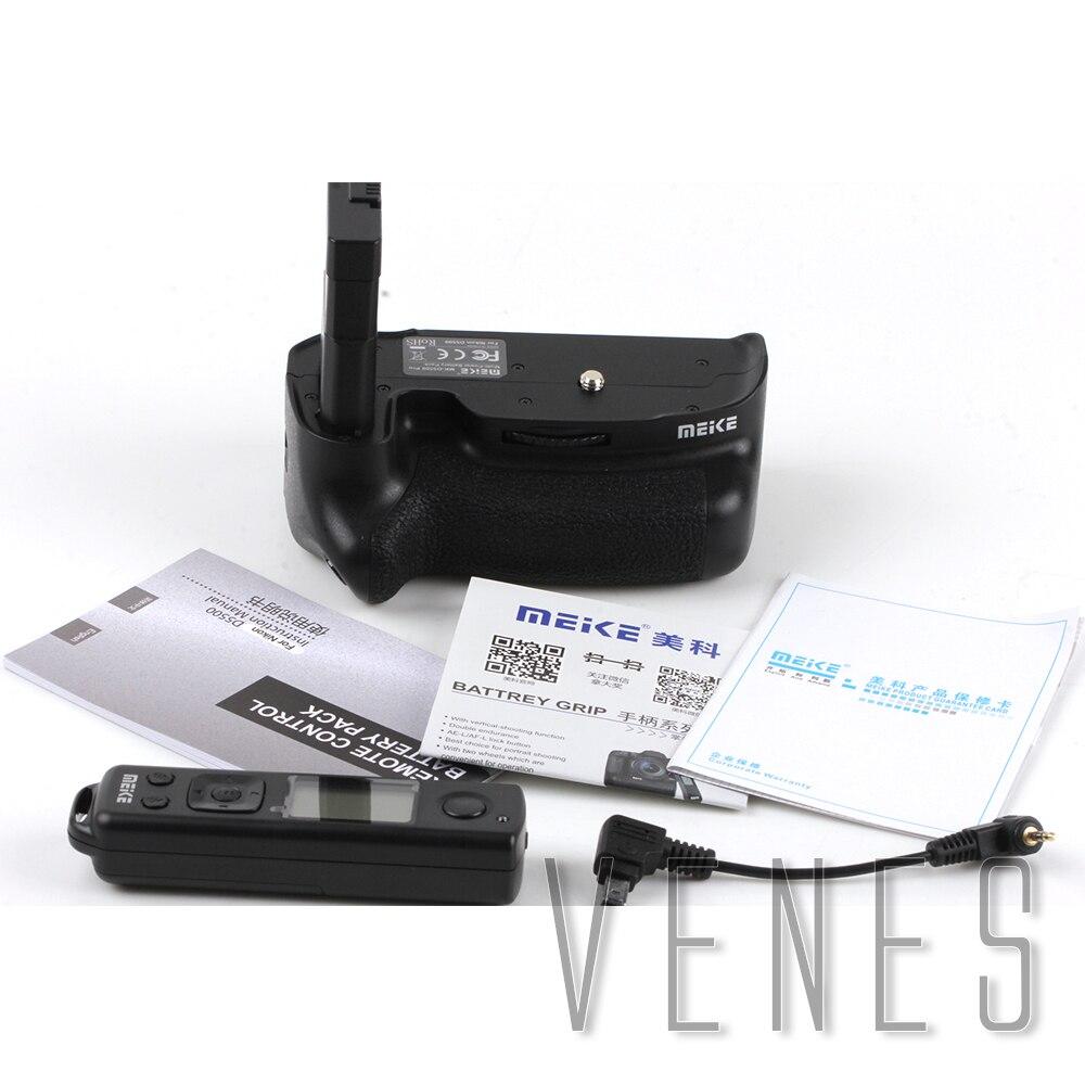 bilder für Meike MK-DR5500 Eingebaute 2,4G LCD Drahtlose Fernbedienung Vertikale Grip anzug für Nikon D5500 Kamera