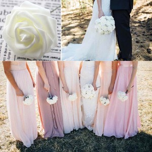 Image 5 - 10 Pcs Real Touch Kunstmatige Bloem Latex Rose Flower Kunstmatige Boeket Nep Bloem Bruidsboeket Versieren Bloemen Voor Bruiloft