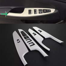 Car Accessories Interior Decoration ABS Door Armrest Window Switch Lift Button Cover Trim For Hyundai Tucson 2015 Car-styling abs inner door armrest window lift switch button cover trim for mazda 3 2014 2015 2016 2017 car accessories