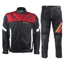 Motorcycle Jacket Winter Windproof Motocross Suits Jacket &Pants Moto Jacket Protective Gear Armor Men Motorcycle Clothing JK-38 motocross dain titanium super speed textile jacket mesh fabric windproof motorcycle jacket