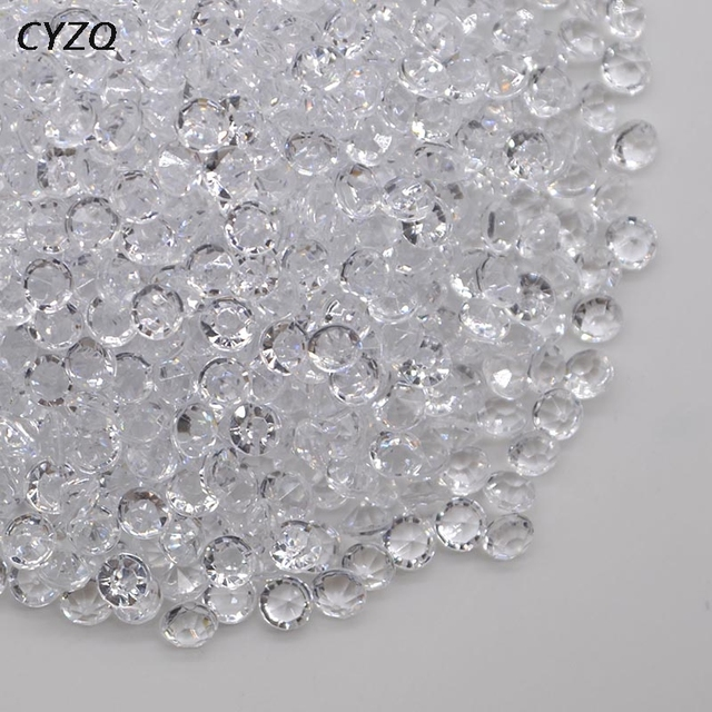 1000PCS 4.5mm Acrylic Crystals Confetti Wedding Table Scatters Decoration Centerpiece Event Party Supplies 1