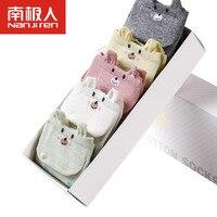 5Pairs/Lot Women Boat Socks Invisible Spring Summer Thin Comfort Socks Cute Cat Bear Dot Design Multicolor Soft Breathable Socks