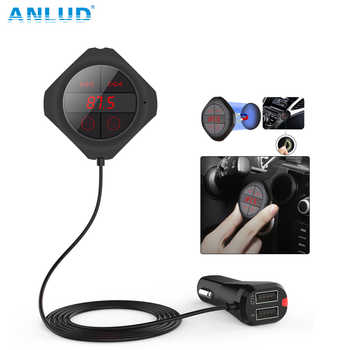 ANLUD Bluetooth Handsfree Car Kit Wireless FM Modulator Magnetic Sticker Dual USB Charge FM Transmitter Bluetooth Car MP3 Player - DISCOUNT ITEM  30% OFF All Category