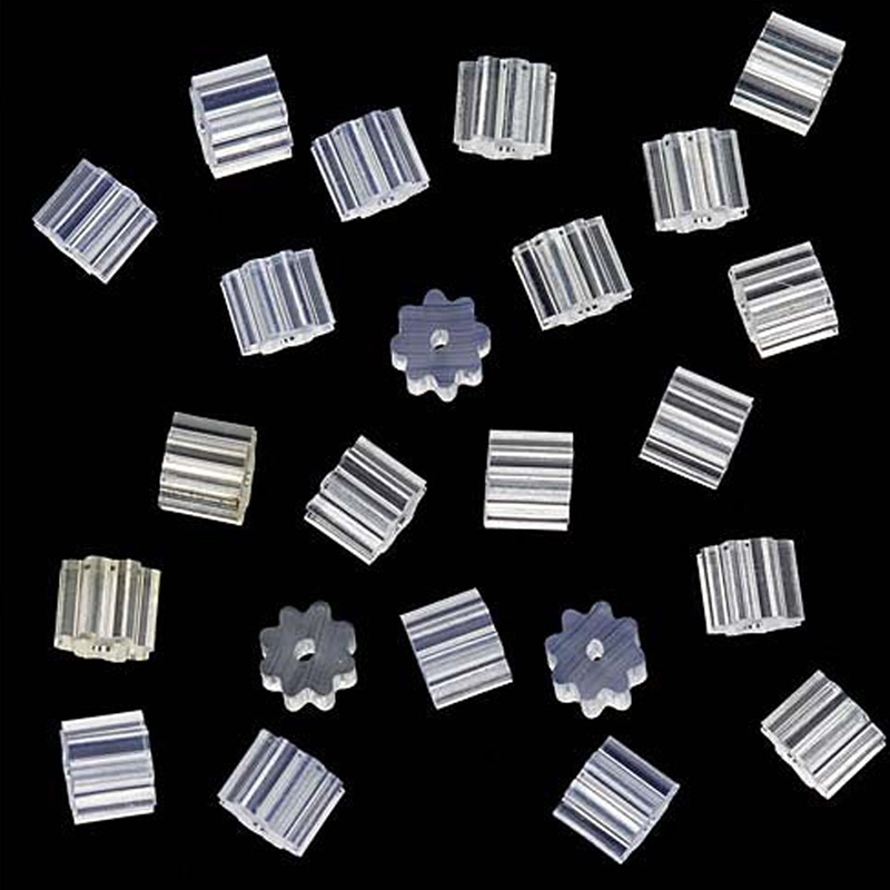 50Pcs Transparent Rubber Stud Earring Backs Hooks Stoppers Post Fastener Accessories For Making Earrings Finding New