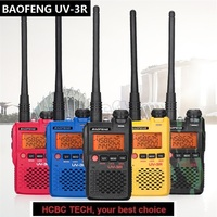 2019 New BAOFENG UV 3R Mini Walkie Talkie UHF VHF Handheld Portable CB Radio Station HF Transceiver USB Charge 3R UV3R Woki Toki
