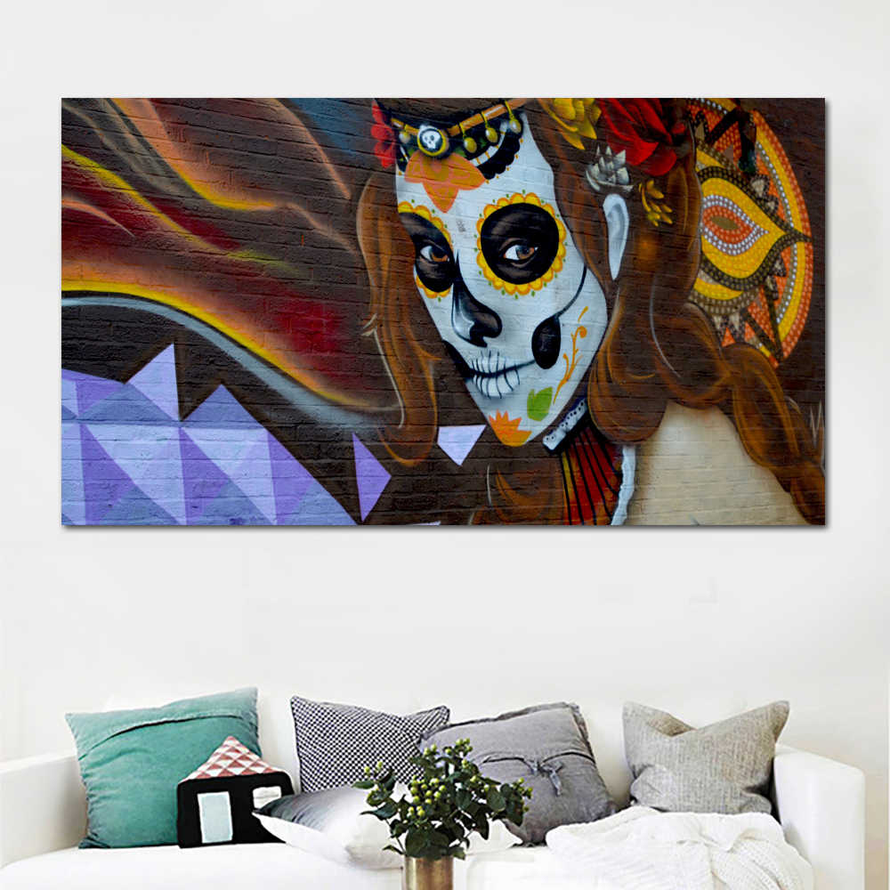 SELFLESSLY Banksy Art Woman Graffiti On the Wall Abstract Canvas Painting Posters and Prints Pop Art Picture For Living Room